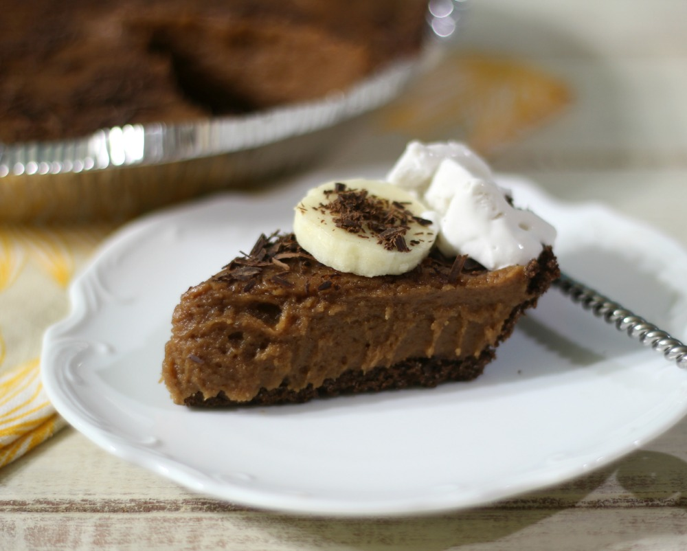 Coco Bananas Peanut Butter Ice Box Pie