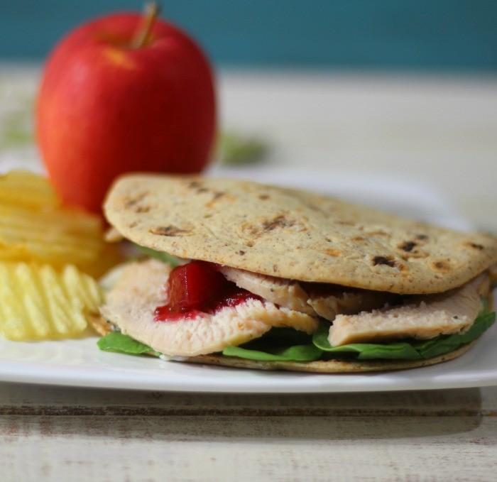 Turkey Cranberry Flatbread #SundaySupper