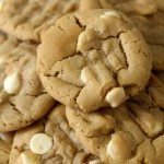 White Chocolate Peanut Butter Cookies #fbcookieswap