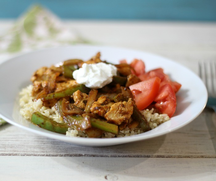 Chicken Faijta Rice Bowl #SundaySupper #McSkilletSauce