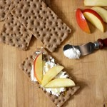 Apple, Goat Cheese Crispbread Snacks