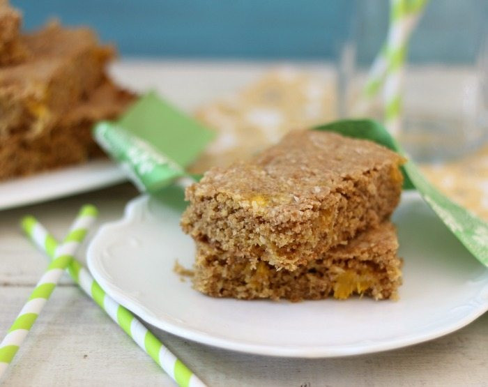 Whole Wheat Mango Coconut Bars #SundaySupper