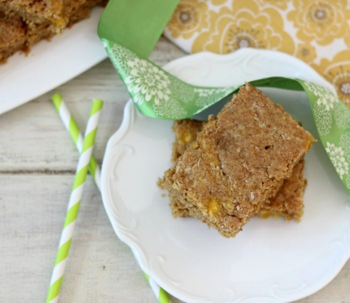 Whole Wheat Mango Coconut Bars  #SundaySpper