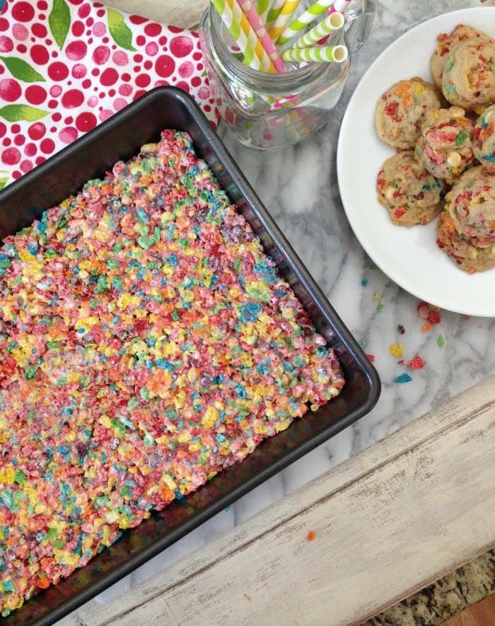 To make Fruity Pebbles treats, just use my Fruit Loops Treats ...