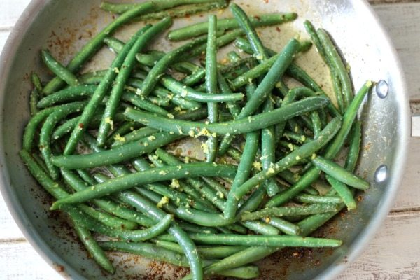 Lemon and Garlic Green Beans