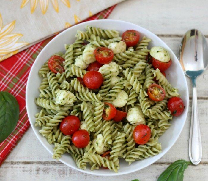 Pasta Salad With Mozzarella Balls