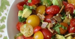 Tomato, Avocado and Bacon Salad #SundaySupper