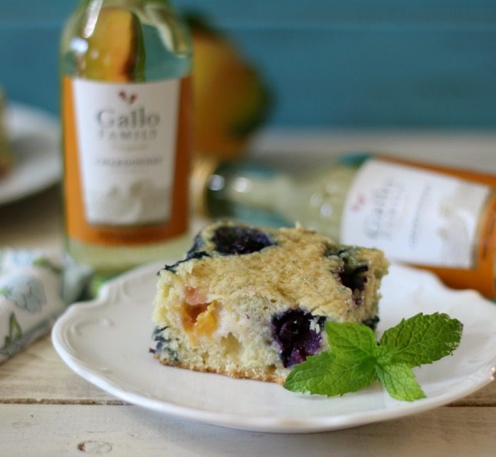 Blueberry Peach Snack Cake #SundaySupper