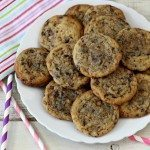 Dark Chocolate Wafer Toffee Cookies