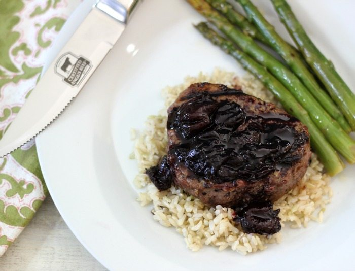 Filet Mignon with Cherry Sauce  #SundaySupper