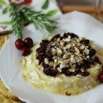 Baked Brie with Cranberries & Almonds #SundaySupper