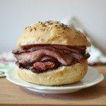 Roast Beef on Kimmelweck Rolls #SundaySupper