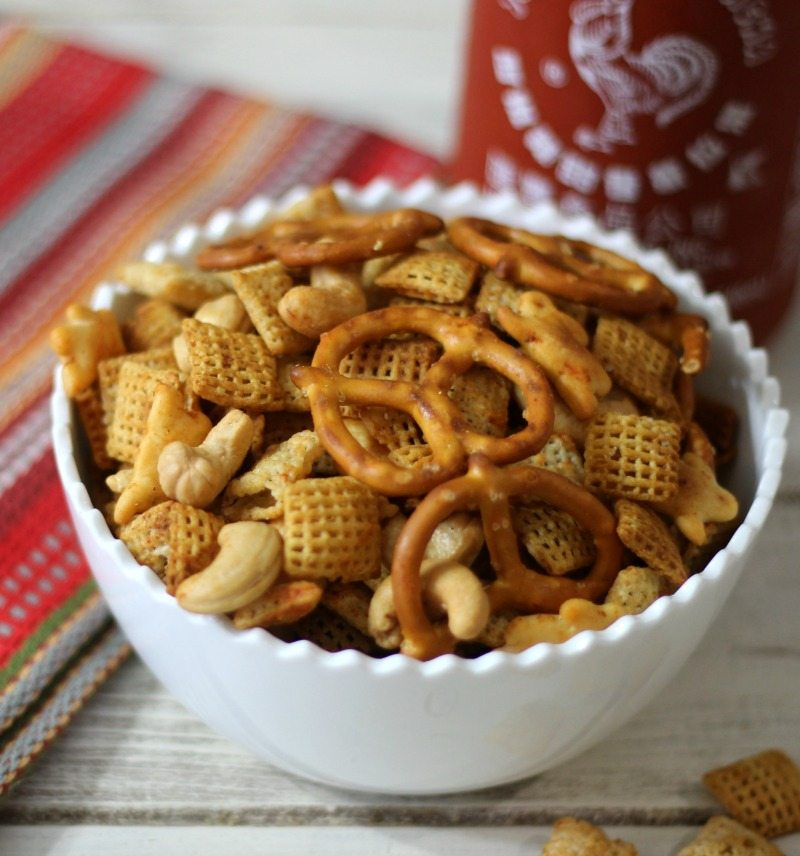Sriracha Chex Mix | Peanut Butter and Peppers