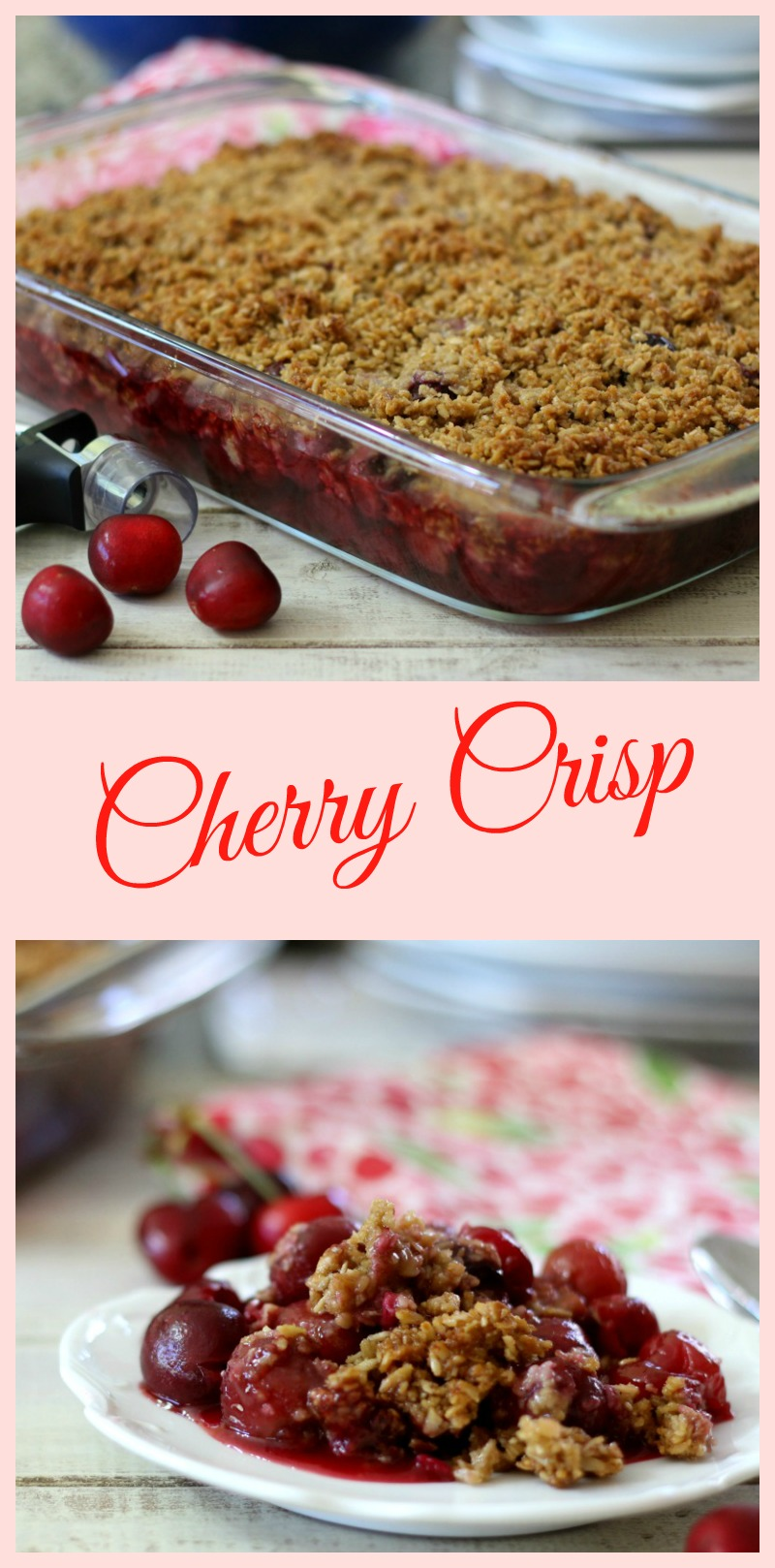 Cherry Cobbler With Crumb Topping