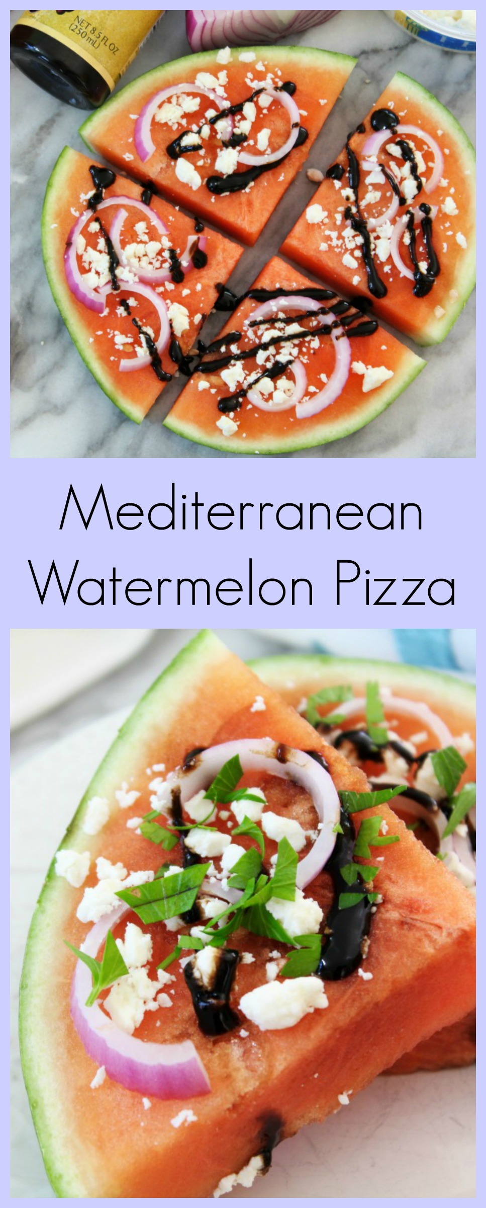Mediterranean Watermelon Pizza