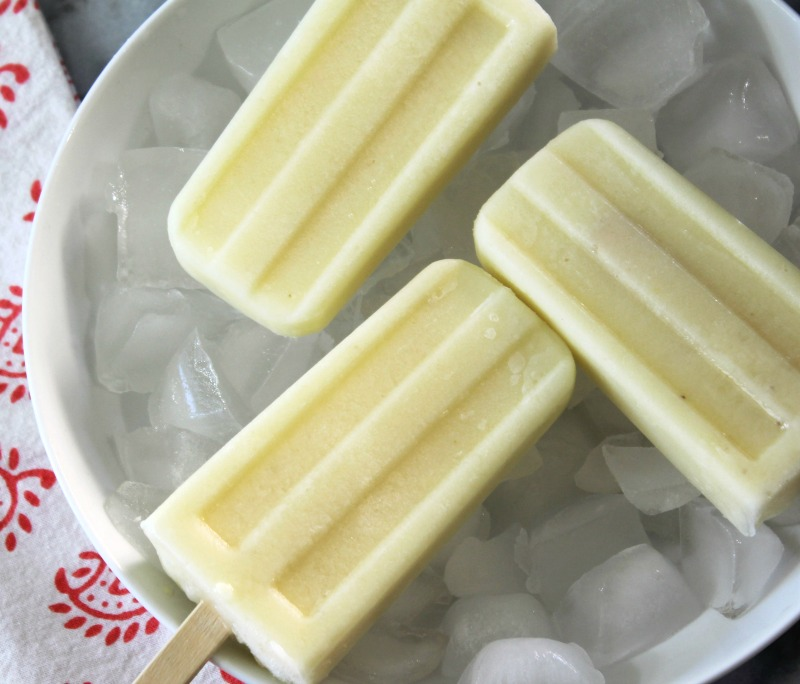 Pineapple Banana Popsicles