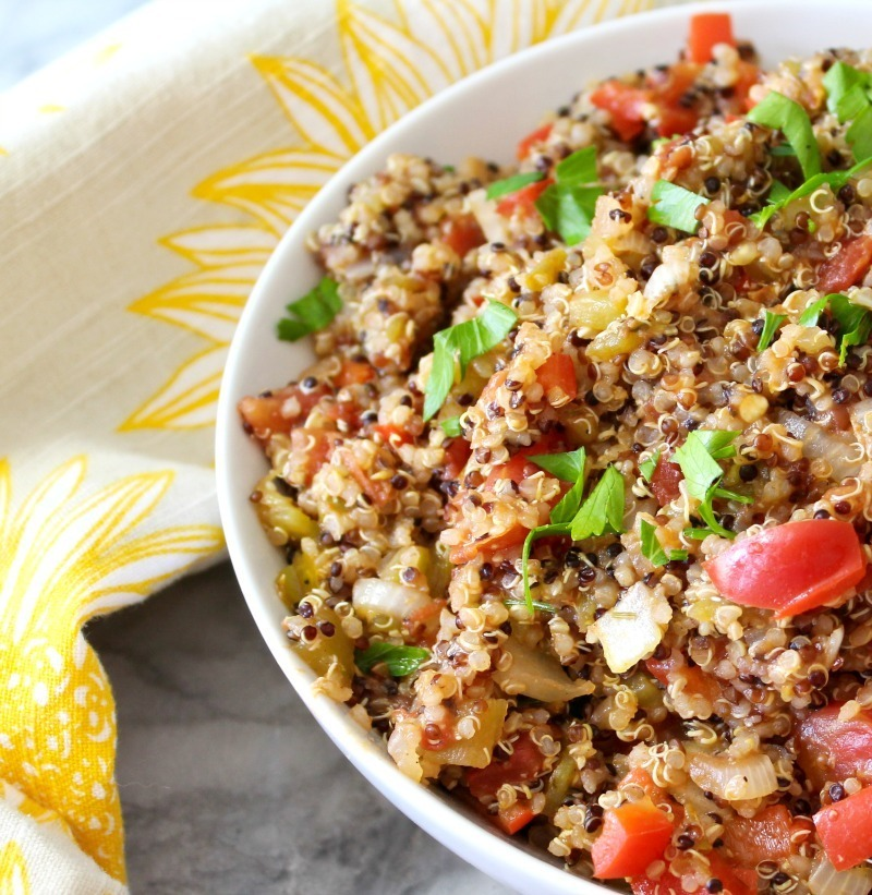 Quinoa with Peppers and Onions