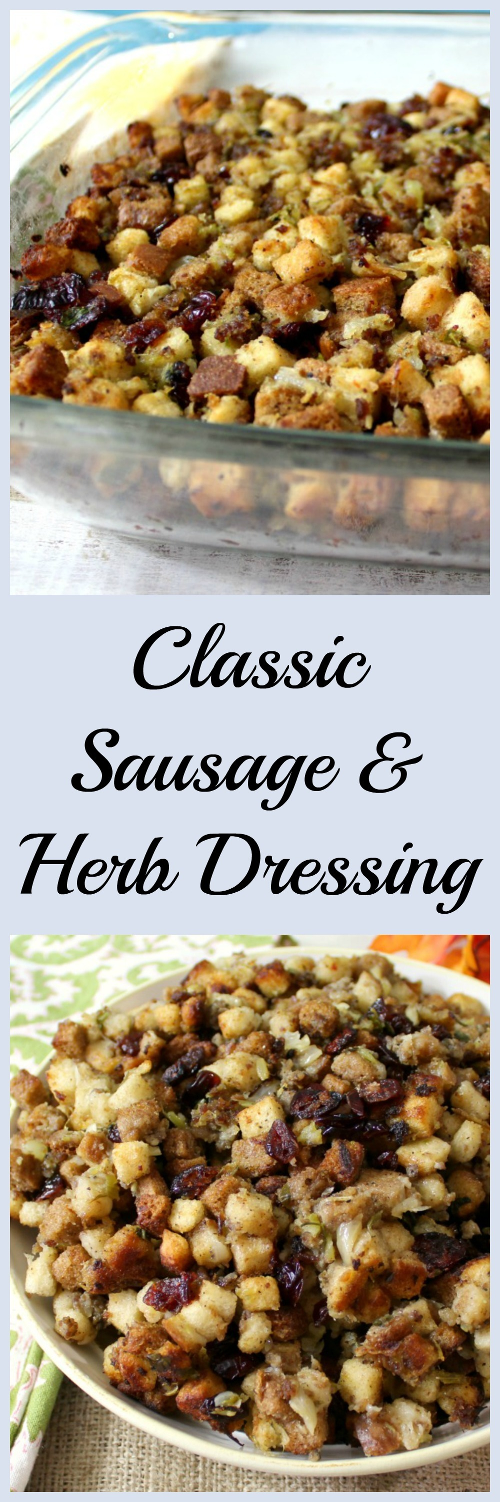 Classic Sausage and Herb Dressing