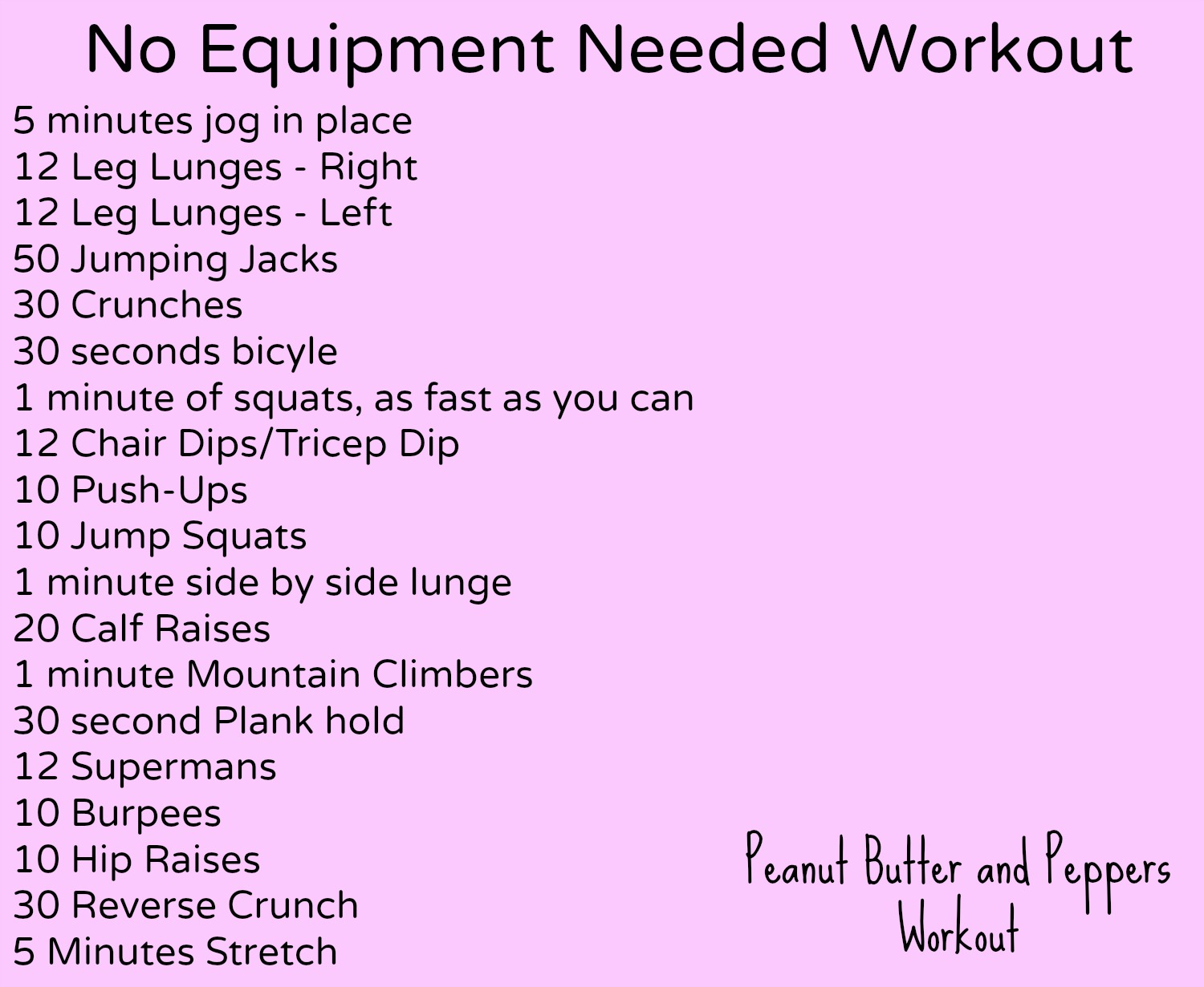 Weight Loss Exercise Routine Without Equipment Bedroom Design
